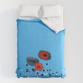 Coquelicot et souvenir bis Comforters