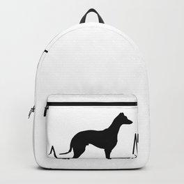 Galgo Español Heartbeat Spanish Greyhound Backpack