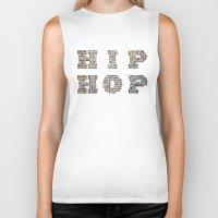 hip hop Biker Tanks featuring HIP HOP by kreatox
