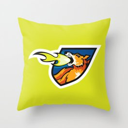 Fire Breathing Rowdys Logo Throw Pillow