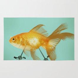 2 wheeled goldfish Rug