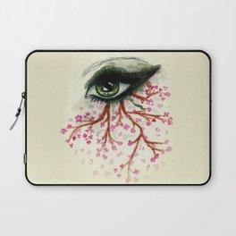 Sketch of an Eye with sakura Laptop Sleeve