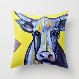 La Vache Throw Pillow