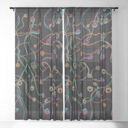 space seeds Sheer Curtain