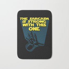 The Sarcasm Is Strong With This One Bath Mat