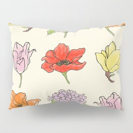 9 flowers Pillow Sham