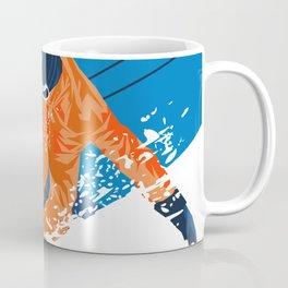 Snowboard Orange Coffee Mug