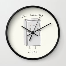 I'm Beautiful Inside Wall Clock