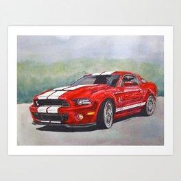 Red Cobra Art Print
