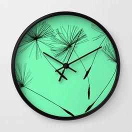 Mint Green Whisper Wall Clock