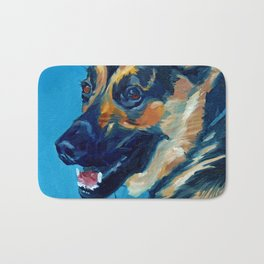 Baron the German Shepherd Bath Mat