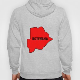 Botswana Silhouette Map Hoody