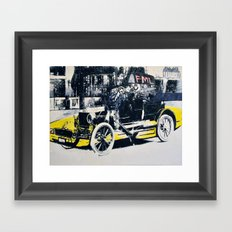 FML Taxi Framed Art Print