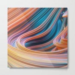 Swirly waves 02 Metal Print