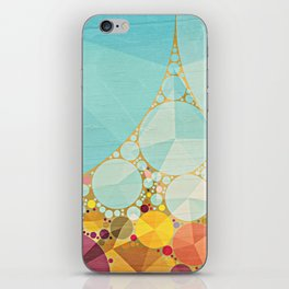 Travelling Show Abstract Circus Carnival Tent iPhone Skin