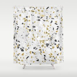 Glitter and Grit Shower Curtain