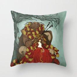 Creature Comforts: Mothman & his Cat Throw Pillow