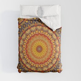 Flower Of Life Mandala (Cosmic Dance) Comforters