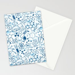 School chemical pattern #2 Stationery Cards