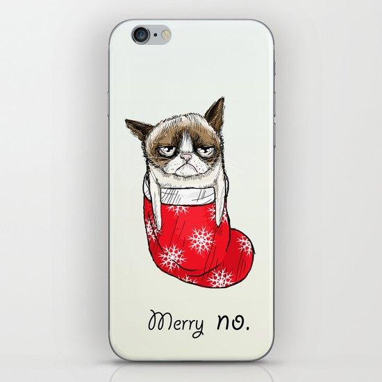 grumpy christmas iPhone & iPod Skin