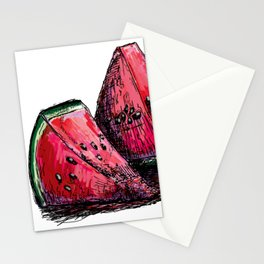 red watermelon Stationery Cards