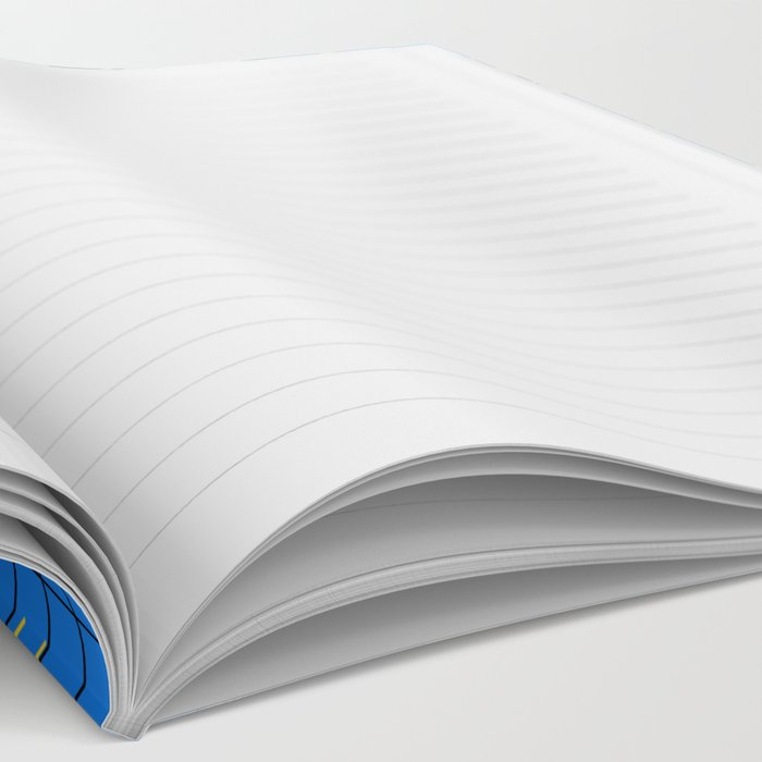 Hungry - eyes retro grid throwback 1980s minimal modern pattern print wacko designs neon  Notebook