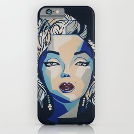 Imperfection is beauty; Madness is genius-Marilyn iPhone Case