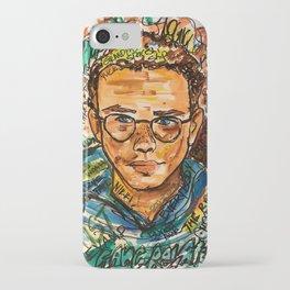 rapper,colourful,colorful,poster,wall art,fan art,music,hiphop,rap,logicc,lyric iPhone Case