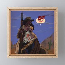 The Sheriff by SirJavier Framed Mini Art Print