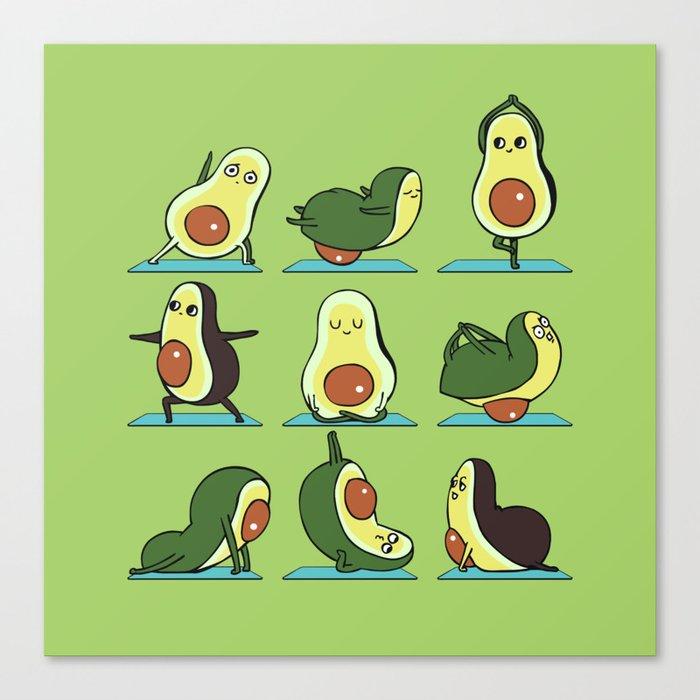 Avocado Yoga Canvas Print