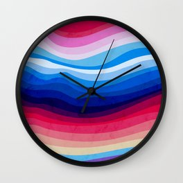 Melted Rainbow Wall Clock