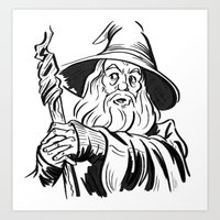 gandalf Art Prints featuring Gandalf by K. Morgan