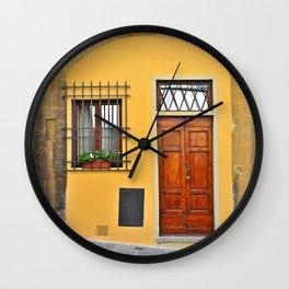 Italian Doorway, House Number 1 Wall Clock