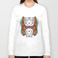 tigers Long Sleeve T-shirts featuring Tigers by Ornaart