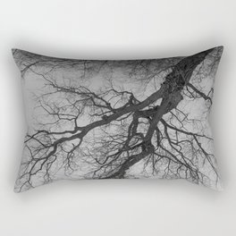 Lungs of the Earth | Nature Photography | Weeping Willow | Black and White | black-and-white | bw Rectangular Pillow