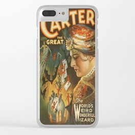 Vintage poster - Carter the Great Clear iPhone Case