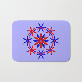 Shuriken Lotus Flower V2 Bath Mat