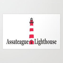 Assateague Lighthouse - Virginia. Art Print