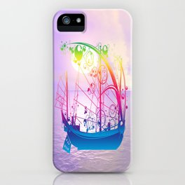 Sailing Ship at Dawn iPhone Case