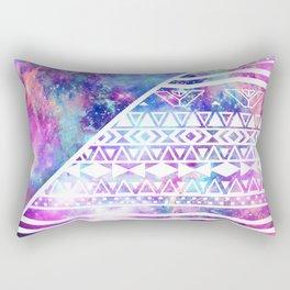Girly Purple Pink Nebula Space White Tribal Aztec Rectangular Pillow