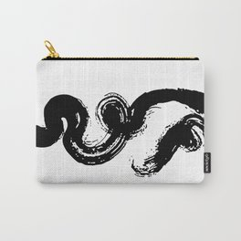 Natural Black Zen Brushstroke Carry-All Pouch