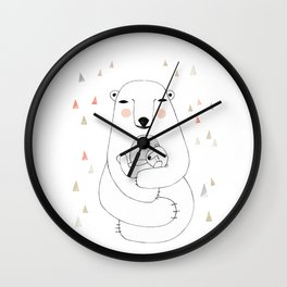 Mummy bear Wall Clock