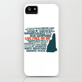 New Hampshire Live Free or Die iPhone Case