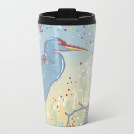 Very Blue Great Blue Heron Travel Mug