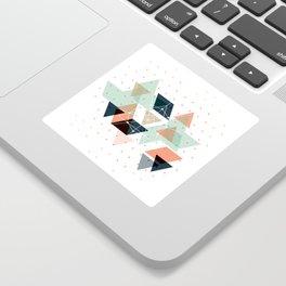 Midcentury geometric abstract nr 011 Sticker