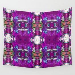 Purple digital patchwork Wall Tapestry