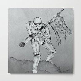 The Trooper B&W Metal Print