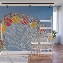 California Wheelin - Santa Monica Pier Wall Mural