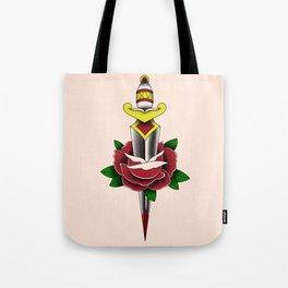 Rose and Dagger Tote Bag