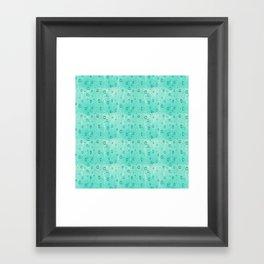 Water Drops Pattern Framed Art Print